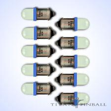 (10 Pack) - 6.3 Volt Led Bulb Frosted 44/47 Bayonet Base (Ba9S) Pinball - Blue