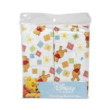 Disney Winnie The Pooh Receiving Blankets. Two Pack of Varied Prints and Styles
