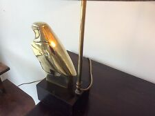Rare mid century table lamp bird brass french vintage