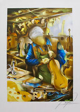 """RAYMOND POULET  """"VIOLIN MAKER"""" Hand Signed Limited Edition Lithograph"""
