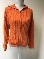 Abercrombie & Fitch Women Cardigan Bright Orange Lambswool Size L (14-16) (39)