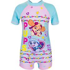 Girls PAW PATROL UV Sun Safe Swimsuit// Sunsuit// Surf Suit Pink or Blue 2-6 years