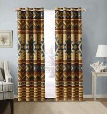 Southwest Window Treatment Tribal Curtains Panels Drapes Grommet 84 in Set 2