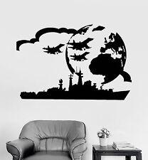 Vinyl Wall Decal Aircraft Carrier USS Military Art Boy Room War Stickers ig3764