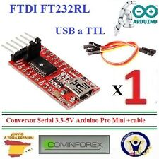 FT232RL FTDI USB a TTL Conversor Serial 3,3-5V Arduino Pro Mini +cable Robot M02