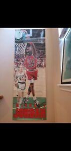 "Rare 1990 Costacos Michael Jordan Bulls Door Poster 27"" x 74"" Vintage Classic"