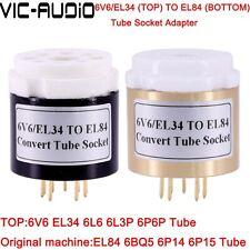 1PC 6L6 6V6 EL34 TO EL84 6BQ5 Vacuum Tube Adapter Socket Amplifier Audio HIFI