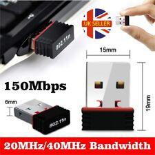 New Mini USB WiFi Dongle 802.11 B/G/N Wireless Network Adapter for Laptop PC UK
