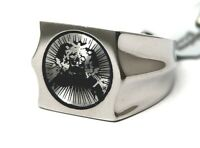 Men's Ring Surgical Steel Unique Conversation Piece Size 11 Bold Brand NEW