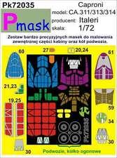 CAPRONI CA.311/313/314 PITTURA Maschera per ITALERI KIT #72035 1/72 pmask