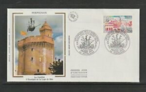 France 1991 SG3031 Yvert2698 FDC (Perpignan) View of Perpignan/Le Castillet-Phil