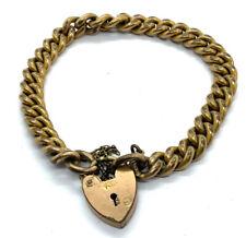 Antique 9ct Rolled Gold Curb Charm Bracelet #49