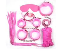 7pcs Restraints Top Pink Bondage SM Sex Tools Set adult sex game BDSM kit