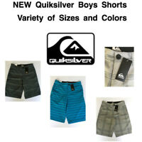 NEW QUIKSILVER Boy's Hybrid Flat Front Shorts! Variety of Sizes and Colors!