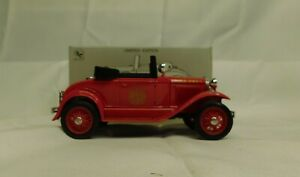 LIBERTY CLASSIC FORD MODEL A ROADSTER FIRE CHIEF BANK W / KEY