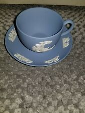 Wedgewood  England Jasperware Blue Cup and Saucer