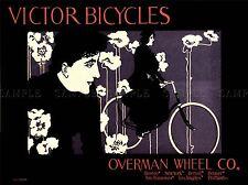 Trasporto VICTOR BICICLETTE USA vintage advertising poster retrò stampa 1544pylv