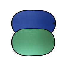 Green/Blue Popup Chroma Key Backdrop Reversible Collapsible Background