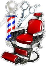 """Barber Shop  Chair Hair Cut Salon Style Car Bumper Vinyl Sticker Decal 3.5""""X5"""""""