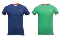 Superdry New Mens Short Sleeve Nue Wave Fleck T-Shirt Navy Marl Green Marl