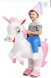 GOOSH Inflatable Costume for Kids, Halloween Costumes Boys Girls Unicorn Rider,