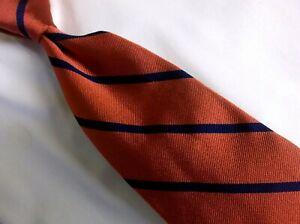"Brooks Brothers Tie Maroon Stripe Silk Necktie 3 3/4"" W/ 60 L"