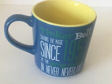 Disney Tinkerbell Sharing The Magic since 1953 Ceramic Coffee Cup Mug Blue Yello
