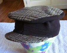 LOCHCARRON Scotland plaid hat wool cap Tartan collapsible cabbie corduroy NWT