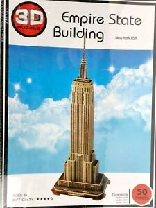 3D Puzzle Model Building Kit The Empire State Building New York USA 50 Pieces