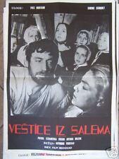 SORCIERES DE SALEM-S.SIGNORET/Y.MONTAND-YU POSTER '60's