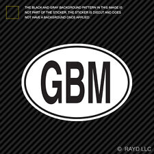 GBM Isle of Man Country Code Oval Sticker Decal Self Adhesive Manx euro