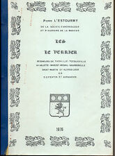 Les Le Verrier par P. L'Estourmy, Cotentin Avranchin, familles armorial