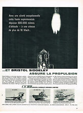 PUBLICITE ADVERTISING 054  1961  BRISTOL SIDDLEY  assure la propulsion fusée avi