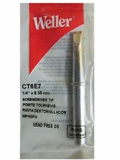 """Stained Glass Supplies - Weller Soldering Iron Tip 1/4"""" 700f #Ct 6E7 W100g"""