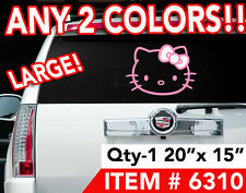 LARGE HELLO KITTY 20x15 DECAL STICKER ANY2 COLORS #6310