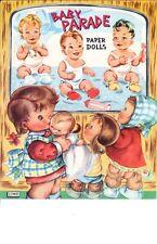 Vintge Uncut 1950s Baby Parade Paper Doll Laser Reproductin~Lo Pr~Hi Qu Free S&H