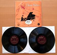 CTL 7027 Chopin Waltzes Leonard Pennario 1953 Capitol 2xOne Sided Test Pressings