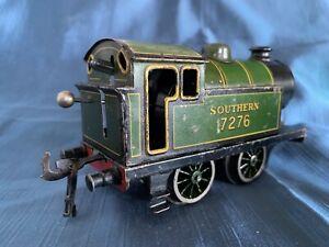 Vintage Bing O Gauge Clockwork Tinplate Tank Locomotive Southern 7276 Reversing