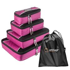 geobags® Premium Packing Cubes - Travel Luggage Organiser Bags - 5 Piece set
