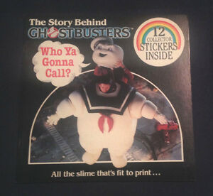 The Story Behind Ghostbusters w/Original Stickers (1984) Vintage Book NOS - RARE