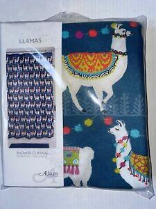 Allure Llamas Shower Curtain-NIP