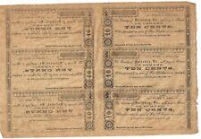 SCARCE 1862 uncut sheet Cty of Nottoway, Va Ten Cent Notes