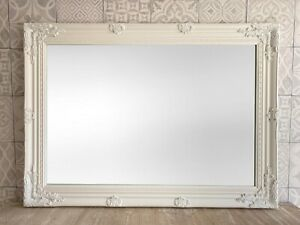 STUNNING ANTIQUE STYLE WALL MIRROR - WHITE SILVER BLACK CREAM GOLD - ALL SIZES