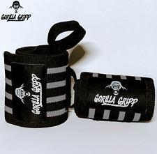 GORILLA GRIPP Weight Lifting Wrist Wraps Gym Training Wrap Grip Crossfit Straps