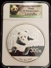 2014 China 1 Kilogram Kilo Proof Silver Panda 300 Yuan NGC PF70 Ultra Cameo COA
