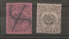 COLOMBIA 1870 2 stamps