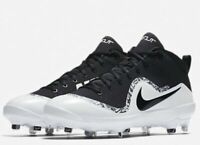 Nike Men's Force Air Trout 4 Pro Metal Baseball Cleats Black White 13, 8