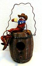Resin Birdhouse Barrel Red Hot Chili Pepper Coffee Cowboy Western