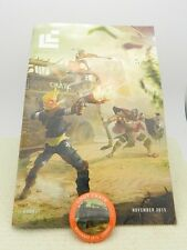 Rare Loot Crate Issue 28 November 2015 Magazine & Pin Back Button Combat Issue!