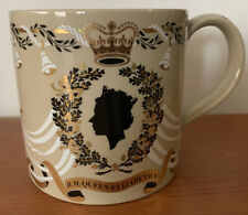 Wedgwood Queen Elizabeth II Large Wedding Mug 1947-1972 by Richard Guyatt